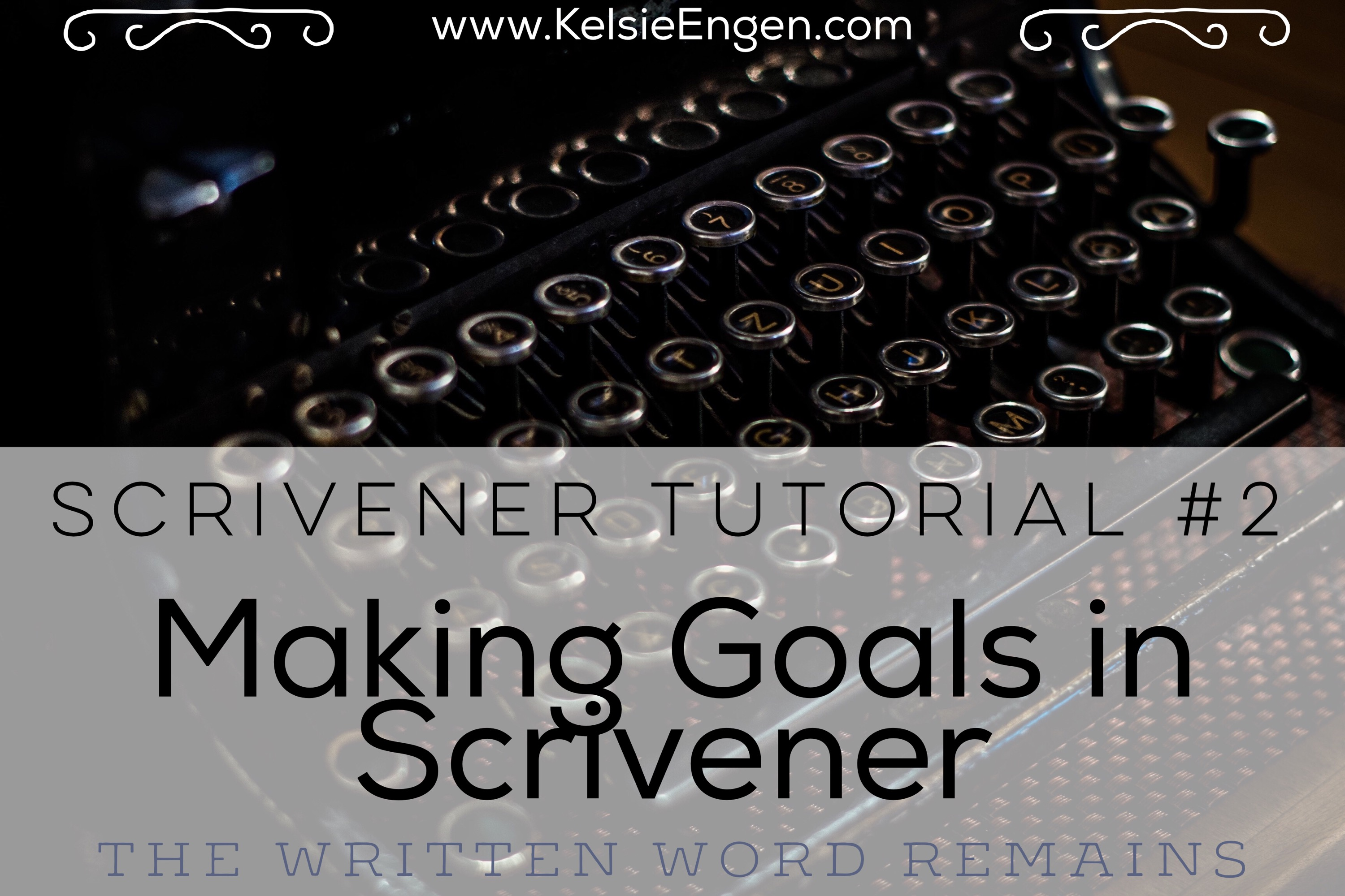Scrivener Tutorial #2: Making Document Goals in Scrivener