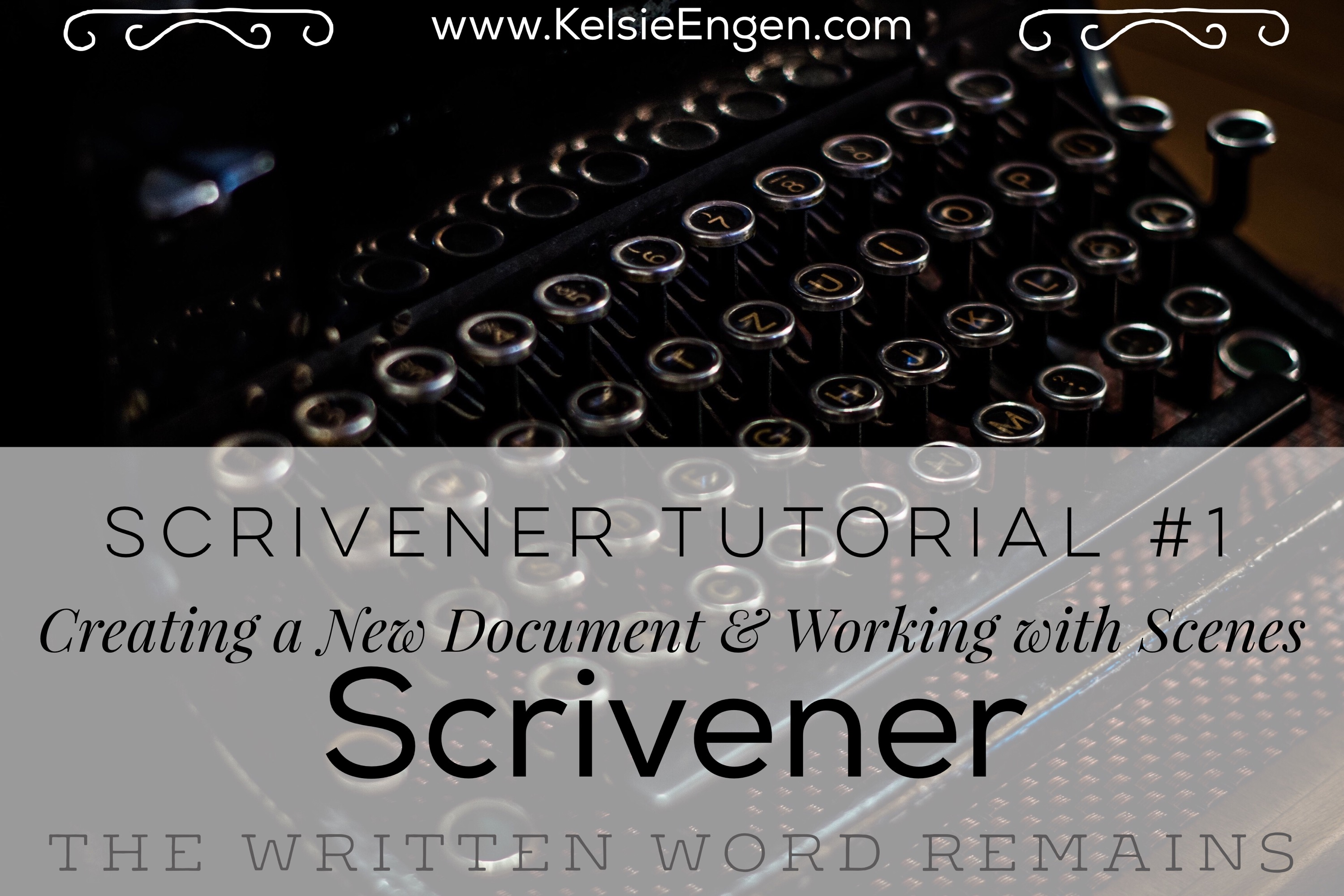 Scrivener Tutorial #1: Creating a New Document & Working with Scenes