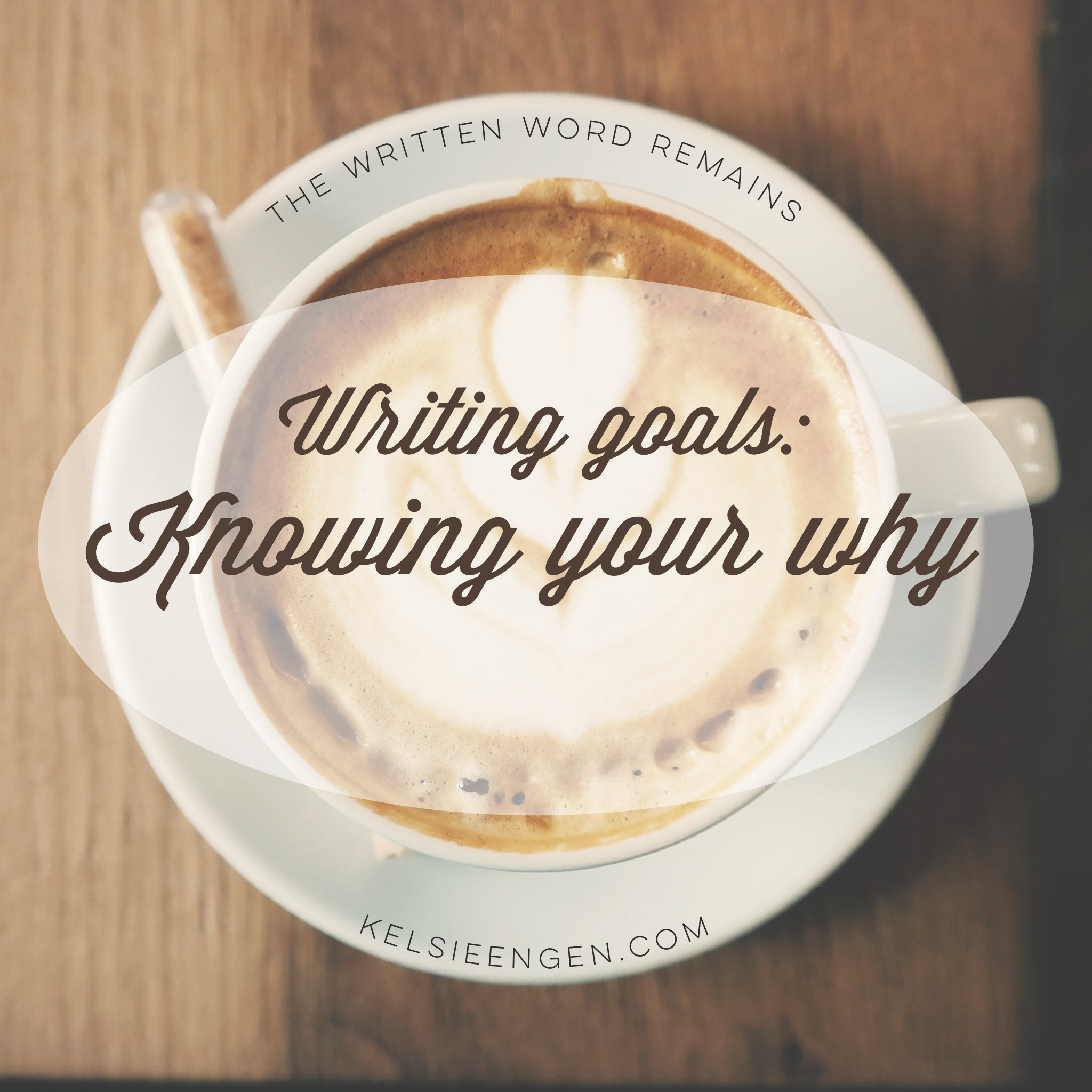 Writing goals: knowing your why