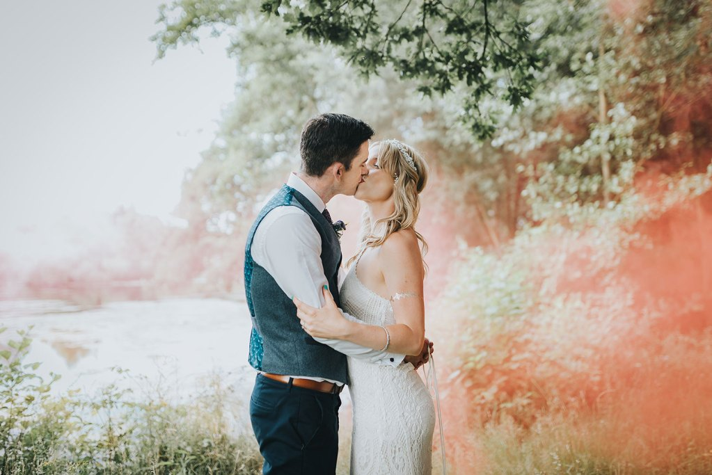 Image of an Essex wedding photograph of a couple in love by Essex wedding photographer Kelsie Low Photography.