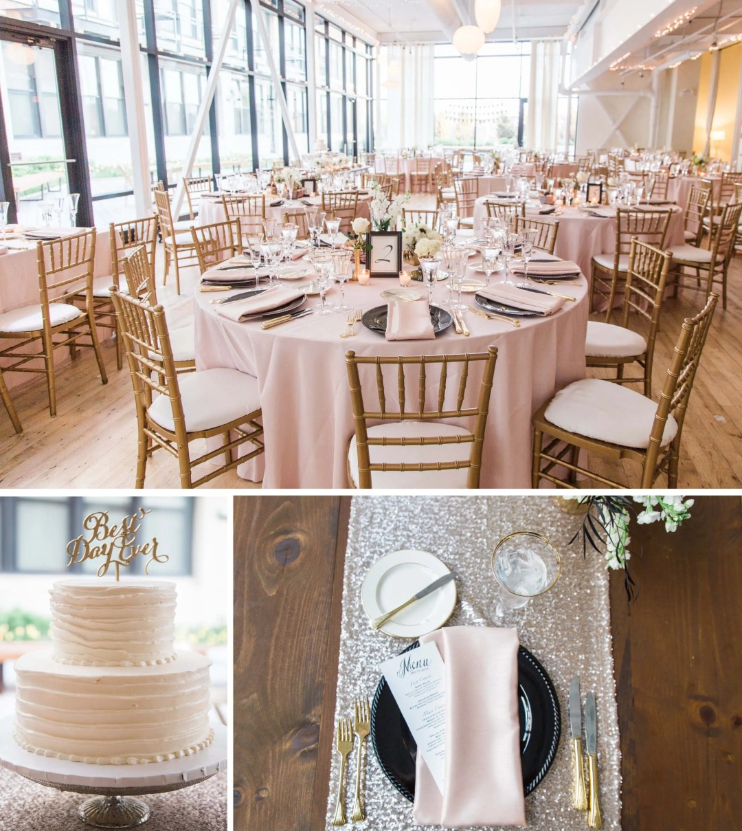Greenhouse Loft in Chicago wedding reception decor _ Brighton Wedding Photographer