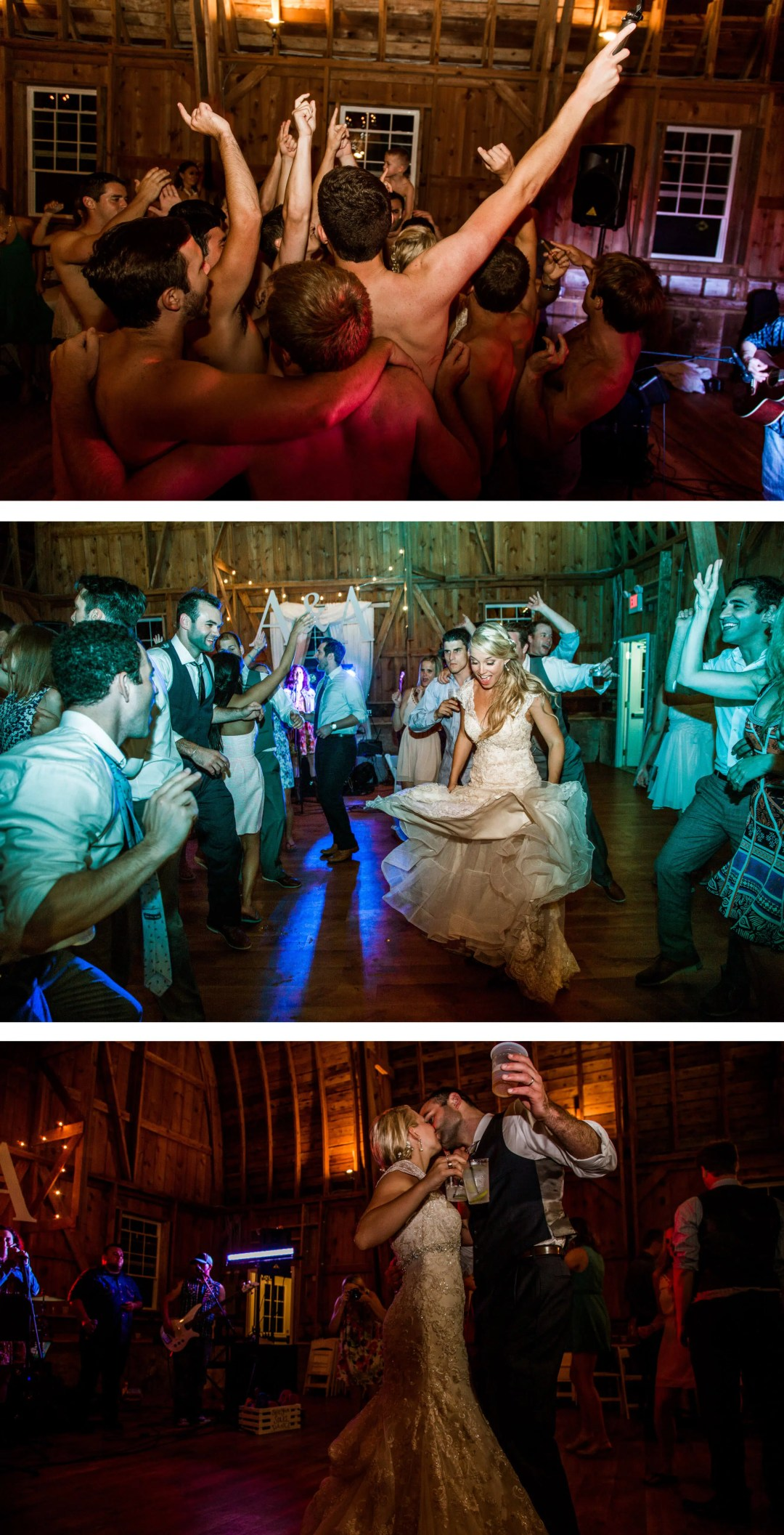 Sussex Wedding Photographer - Old barn reception