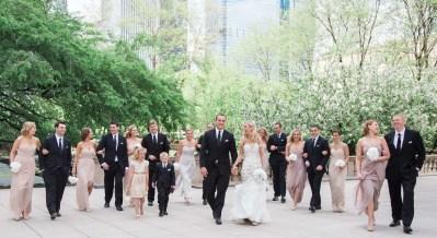 brighton wedding photographer bridal party walking