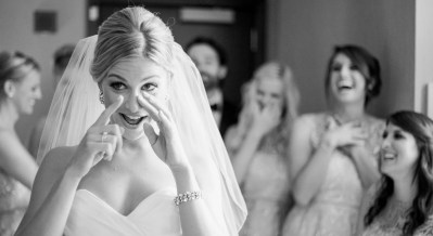 brighton wedding photographer bride reveal to bridesmaides