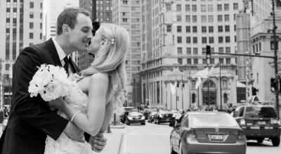 brighton wedding photographer couple in city centre