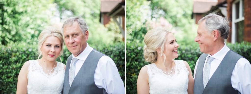 Manchester bride with dad - Brighton wedding photographer