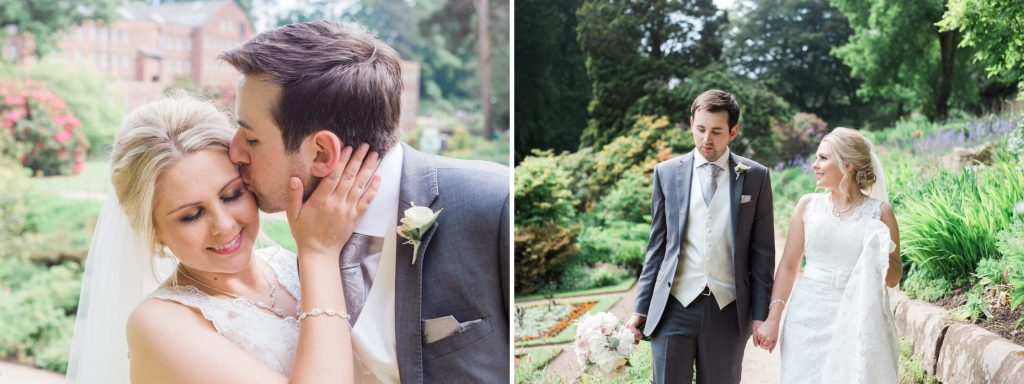 Quarry Bank Mill romantic couple portraits in gardens - Brighton wedding photographer