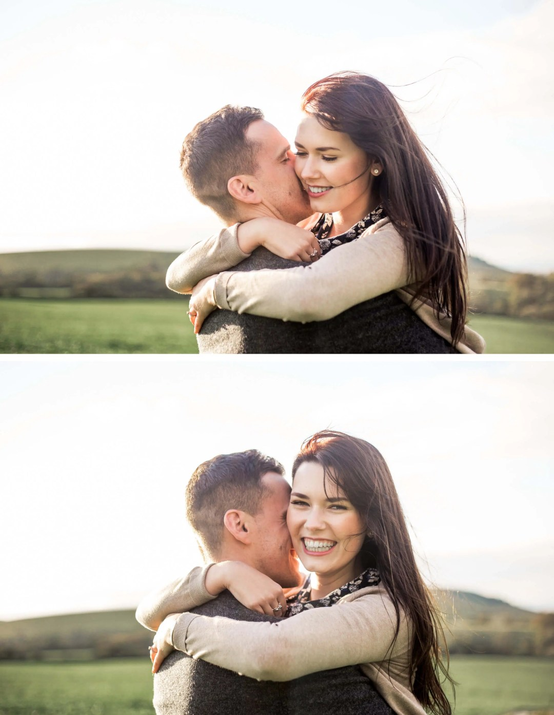 Brighton Engagement Photographer _ Engagement photography on South Downs, West Sussex