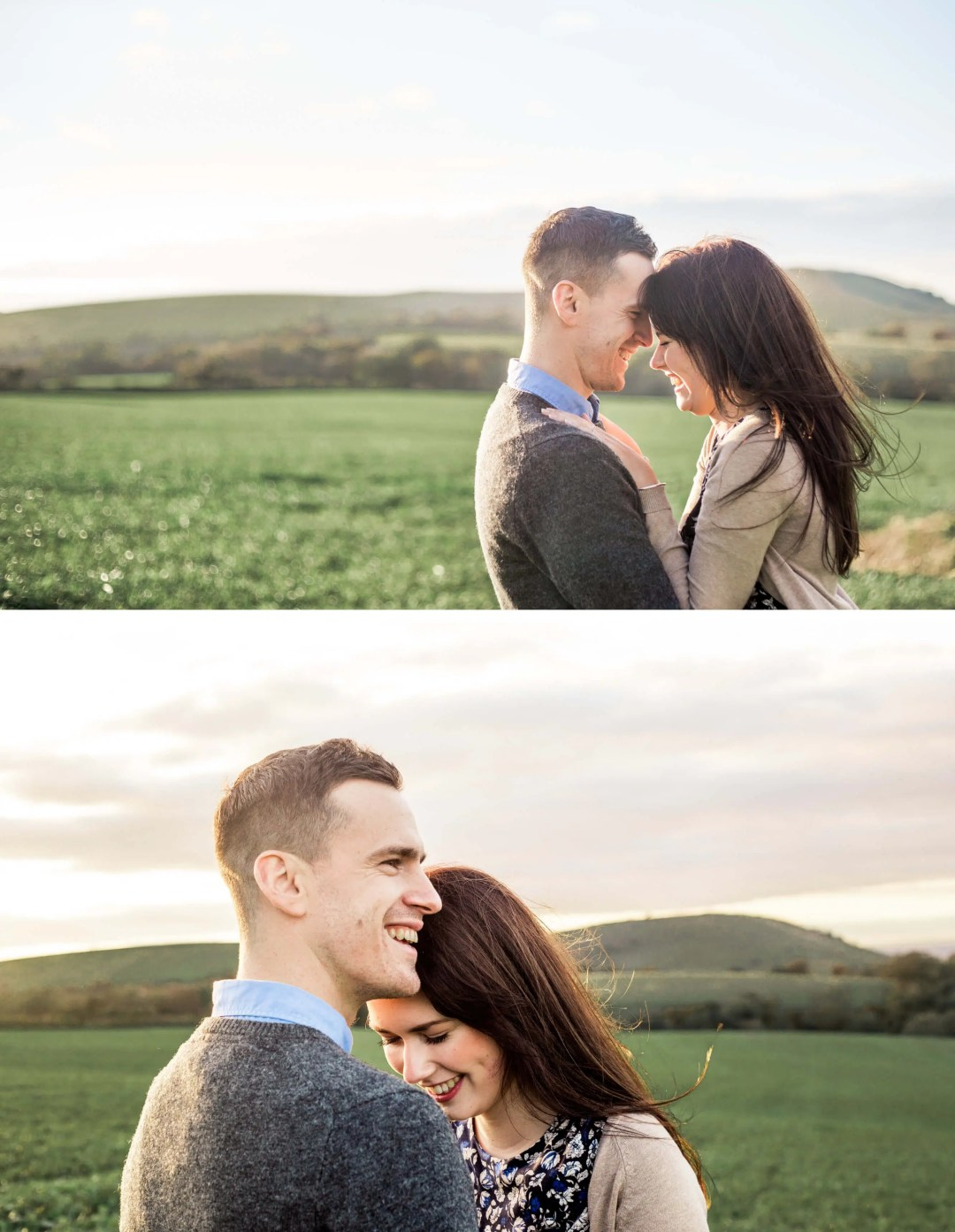 Brighton Engagement Photographer _ Relaxed engagement photography on the South Downs in West Sussex