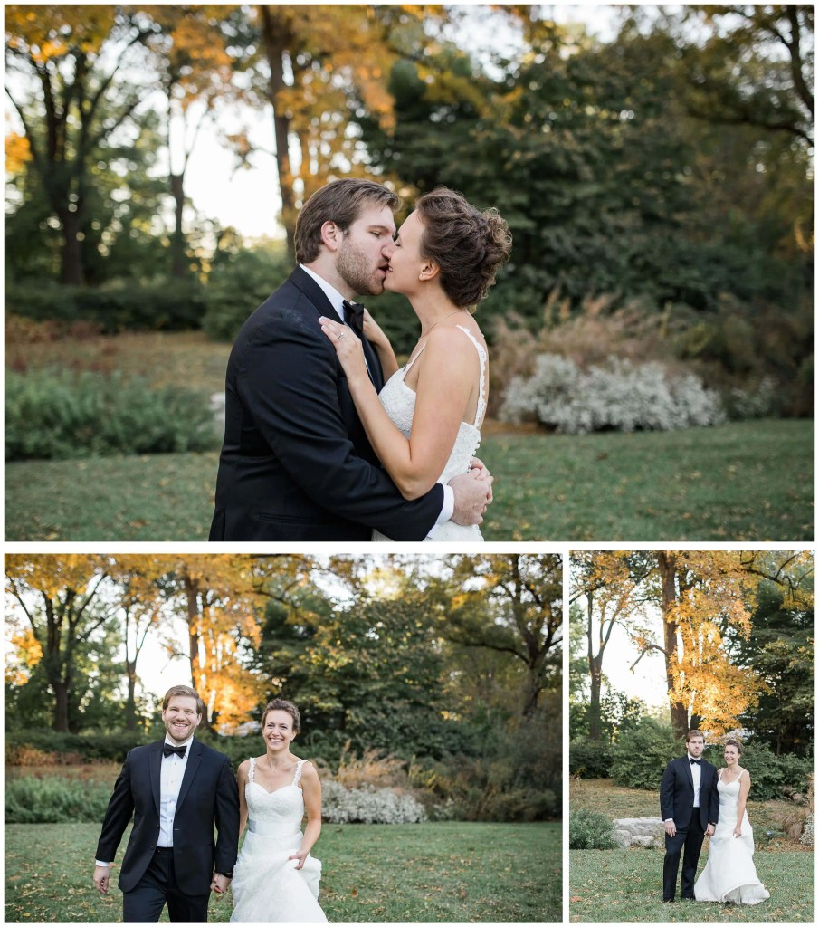 St. Louis Botanical Couples Portraits in Fall - Brighton International Wedding Photographer