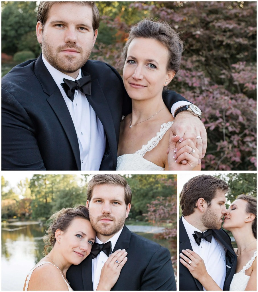 St. Louis Botanical Couples Portraits on Bridge - Brighton International Wedding Photographer (1)