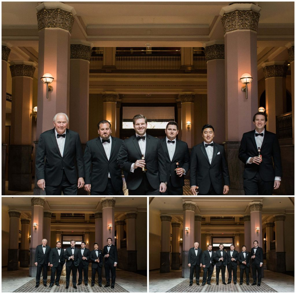 St. Louis Union Station Groomsmen and Usher formals - Brighton Wedding Photographer