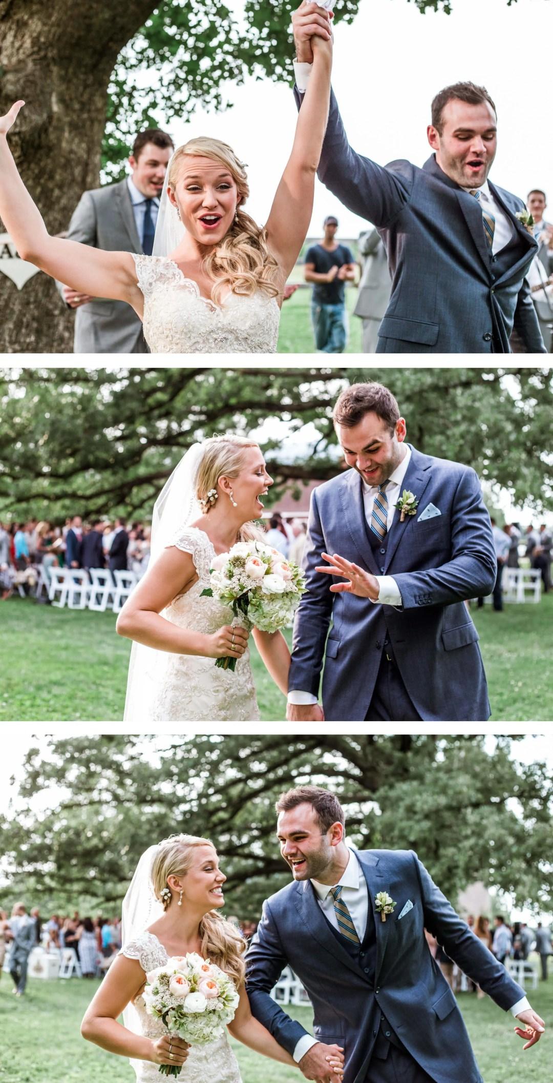 Sussex Wedding Photographer - ceremony recessional exit celebration
