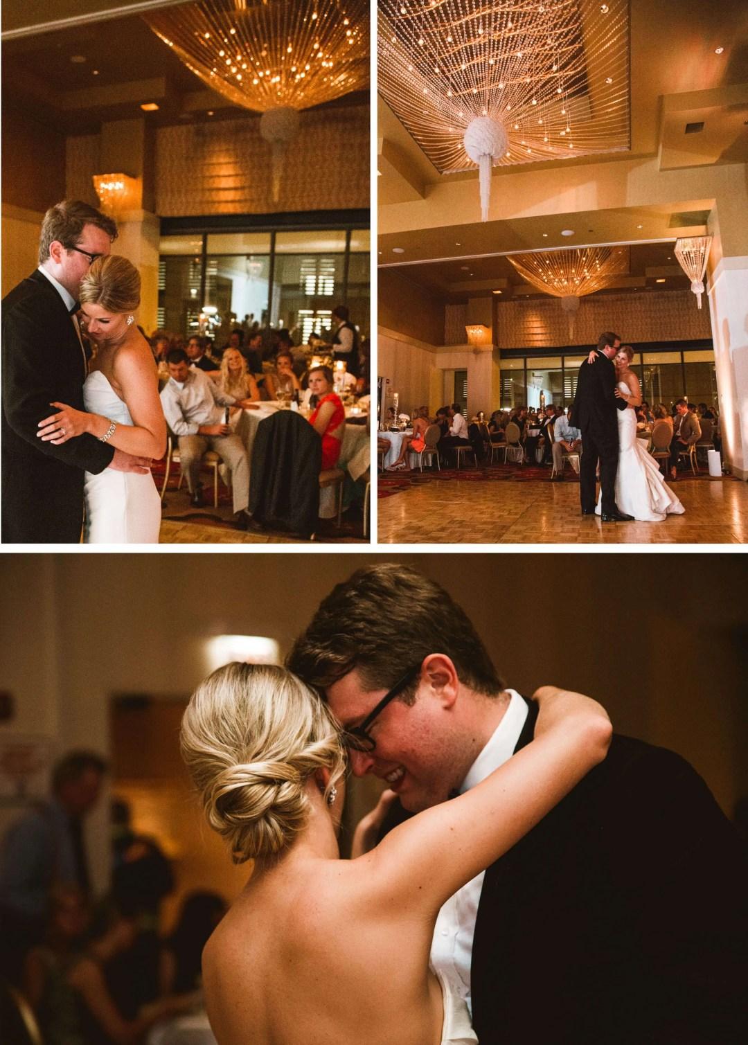 Kimpton Hotel Palomar reception first dance - Sussex Wedding PHotographer