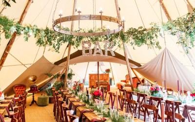 Cork bar sign for safari tipi wedding in Warnham Horsham