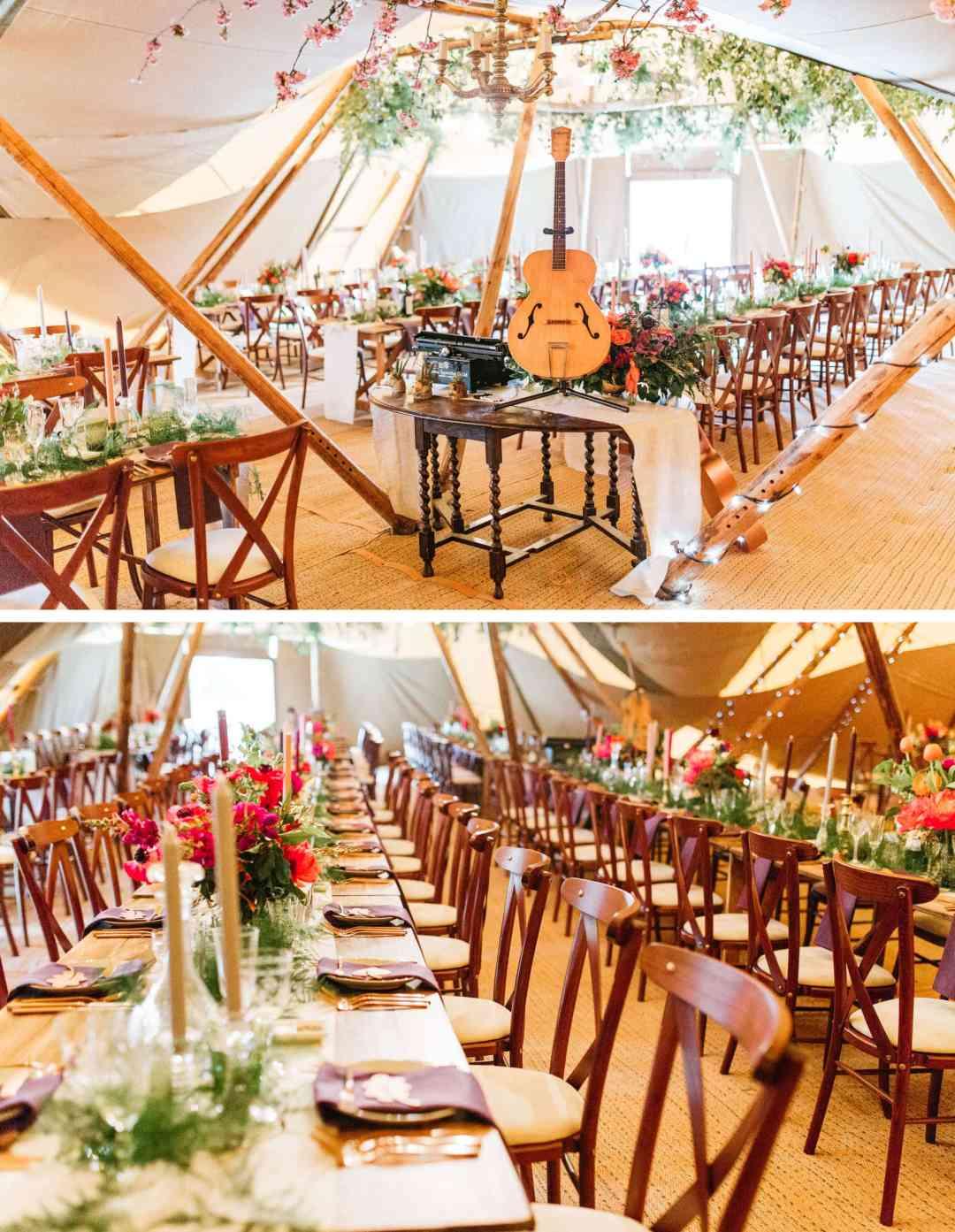 Safari wedding theme in Warnham tipi - Horsham wedding photographer in West Sussex