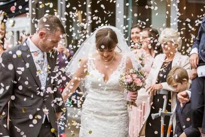 St Pancras Church Wedding Photography Confetti