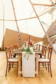 Tipi Wedding Reception Decor in West Sussex Photography