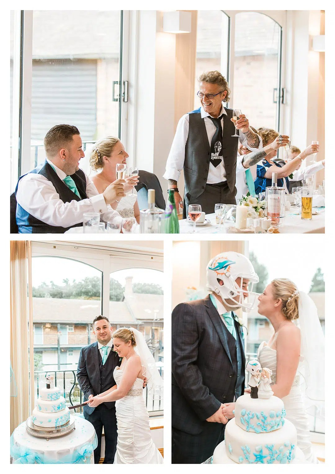 Cottesmore Hotel Wedding Photography Dolphins Football Cake Topper