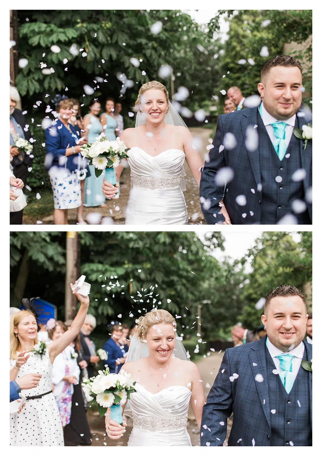 St Michaels Church Wedding Confetti Tunnel in Partridge Green