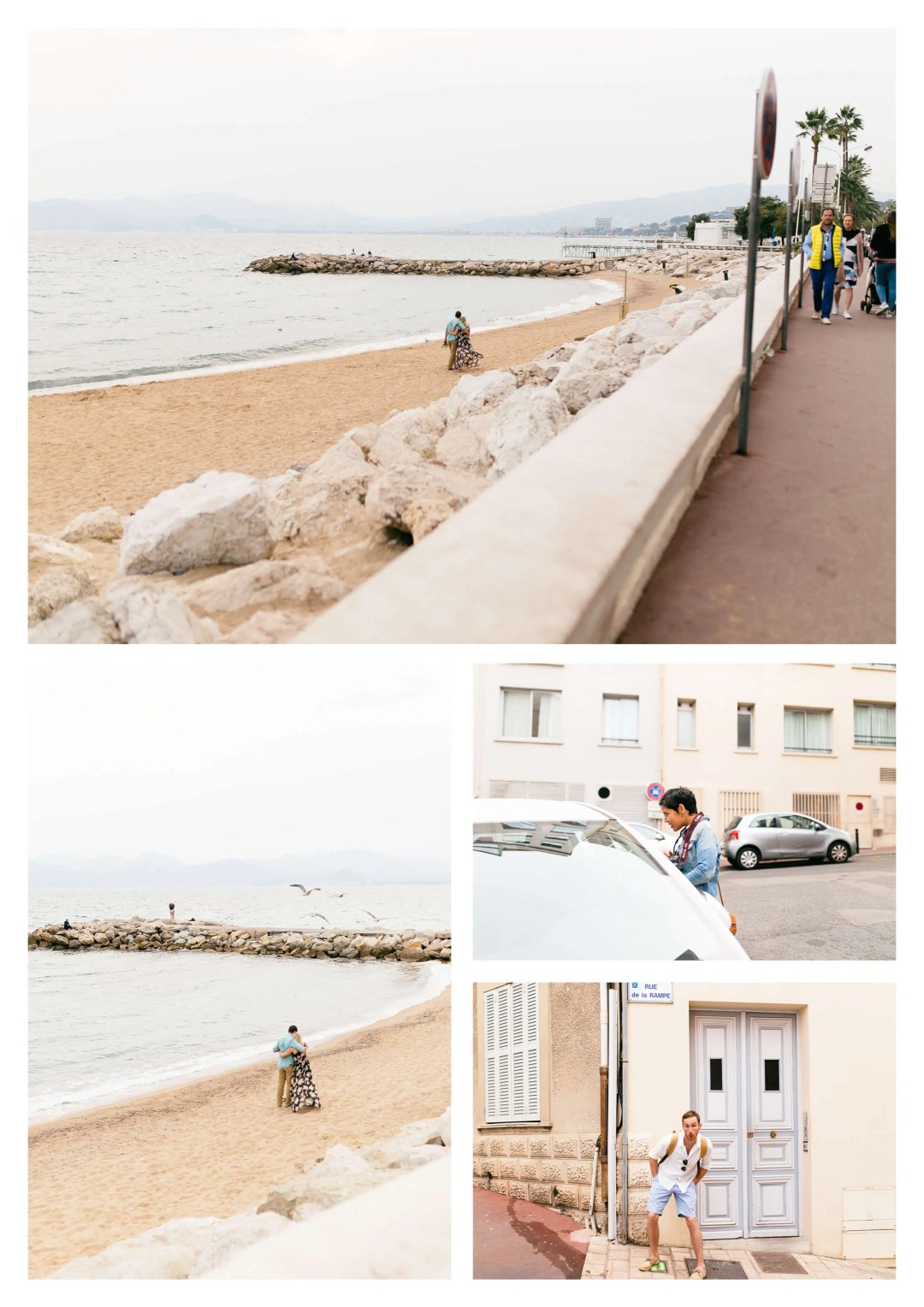 Cannes Romantic Beach Suprise Proposal Photography