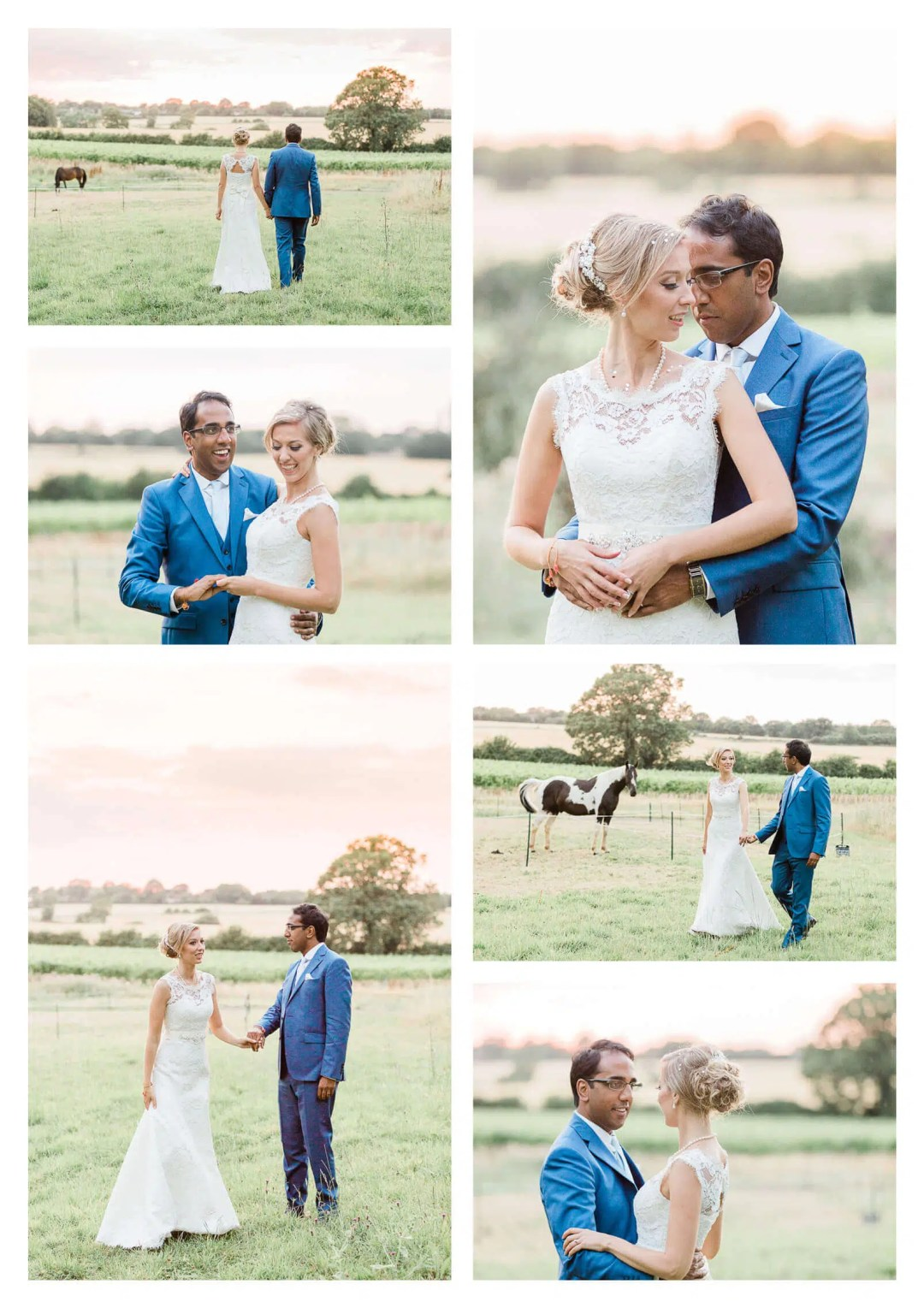 Baddow Park couple portraits with horses | Essex wedding photographer