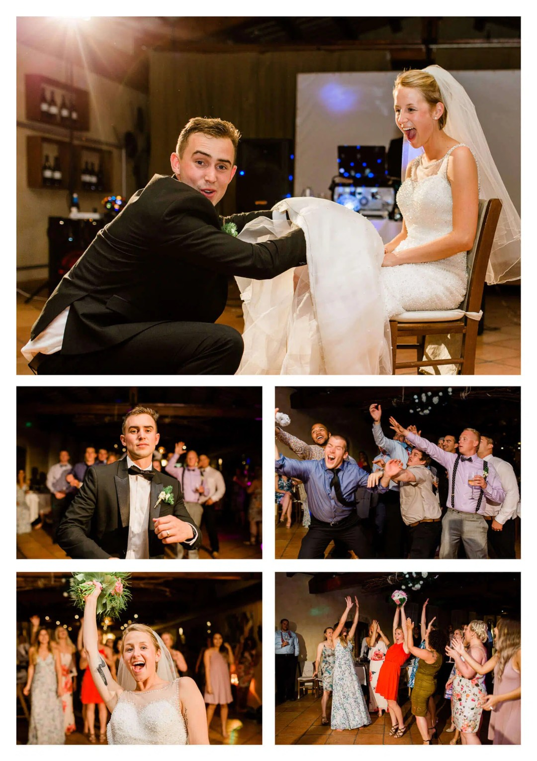 Bouquet and garter toss at Fossa Mala | Pordenone wedding photographer