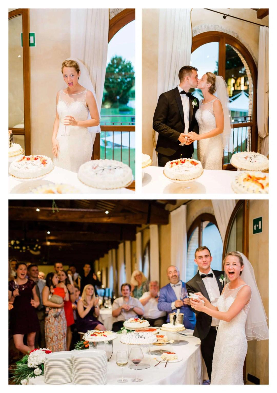 Cake cutting at Fossa Mala wedding | Destination photographer