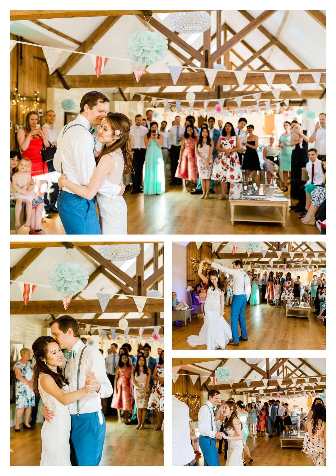 Finchcocks Oast wedding first dance | Kent wedding photographer