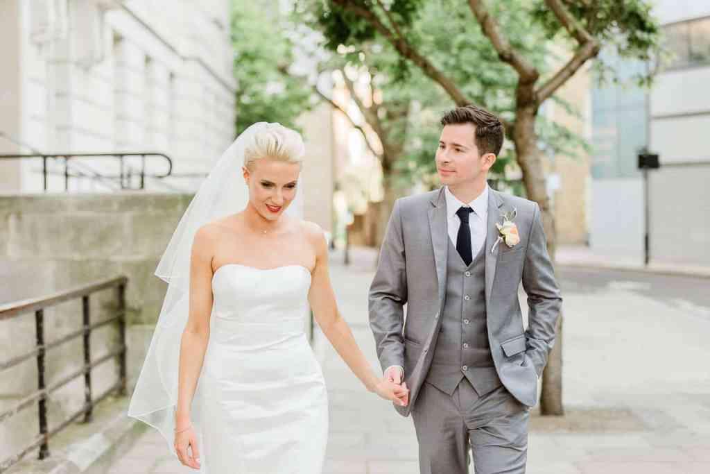 Hackney Town Hall wedding couple portrait | London photographer