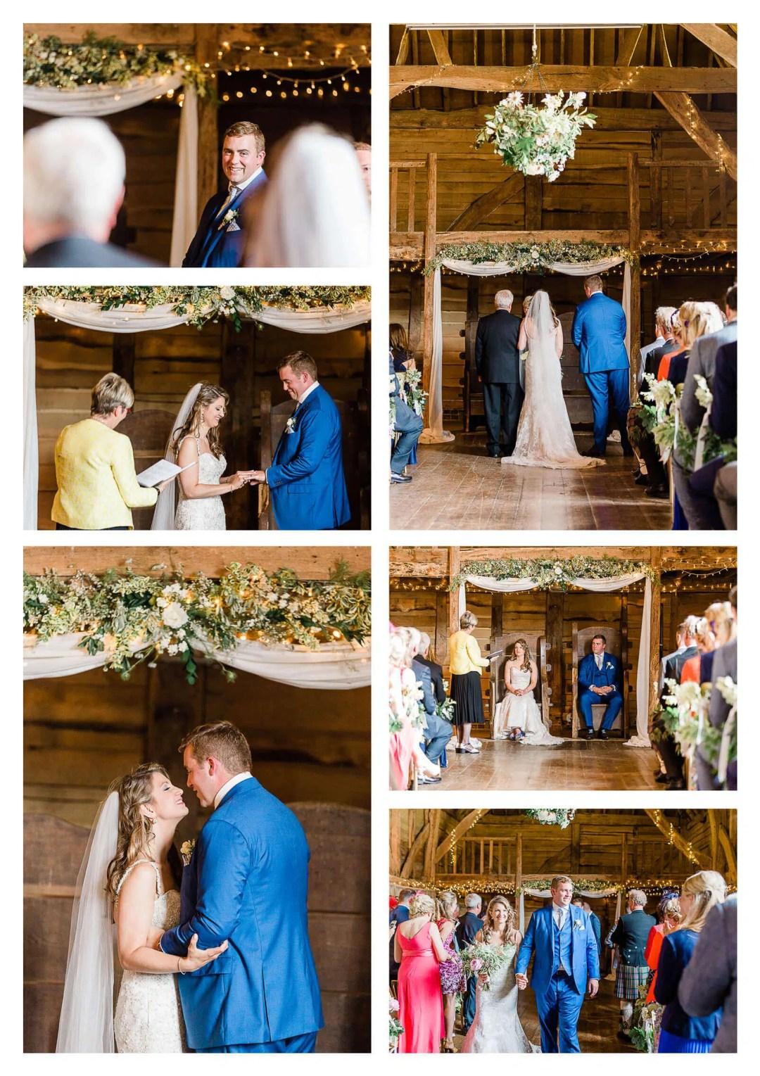 Michelham Priory barn wedding ceremony in Hailsham   East Sussex Photographer