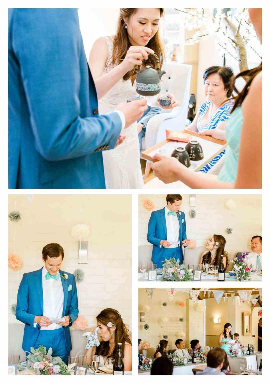 Traditional Chinese Tea Ceremony at Finchcocks Oast | Kent wedding photographer