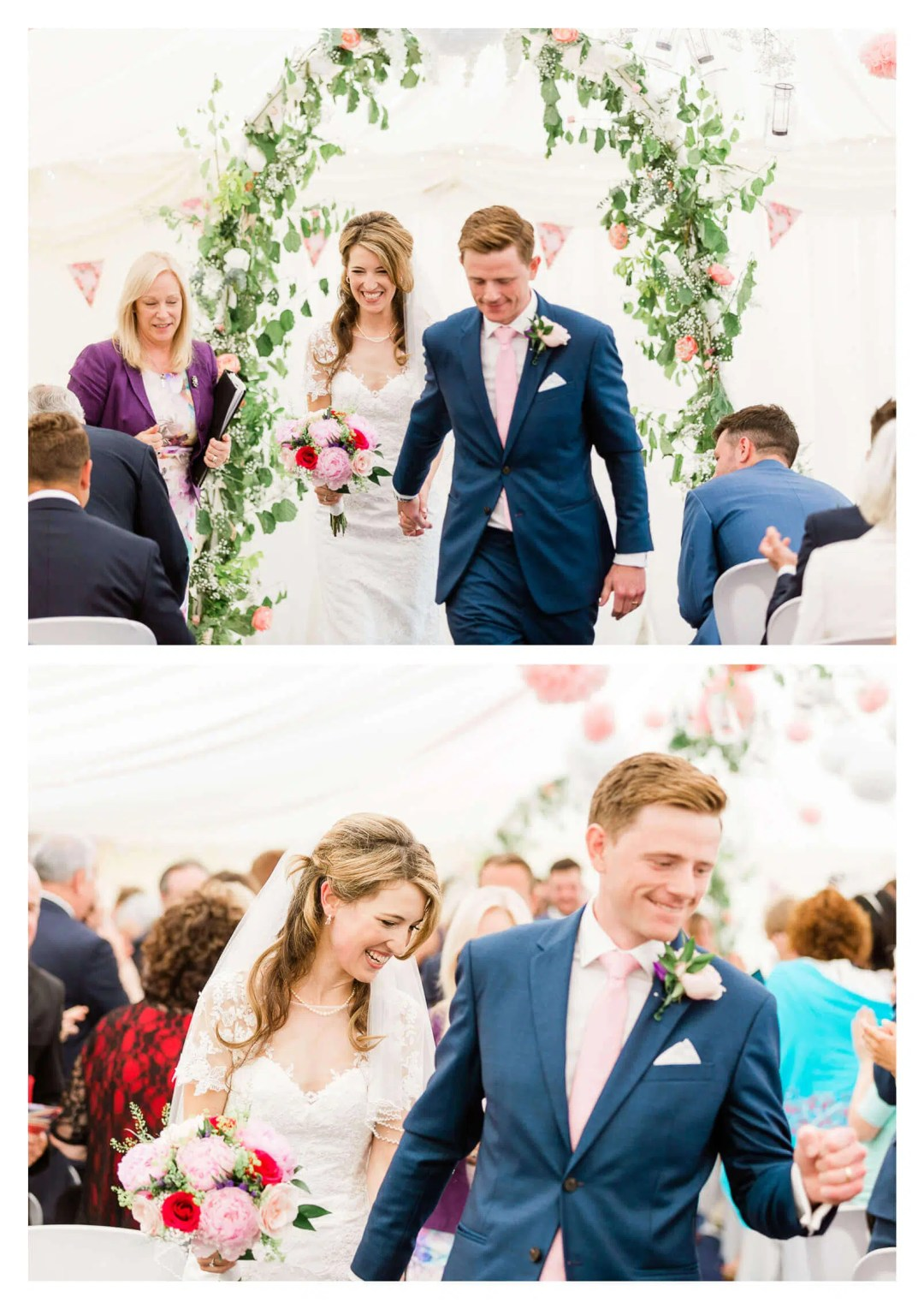 Anchor Inn wedding ceremony in marquee | Lewes photographer