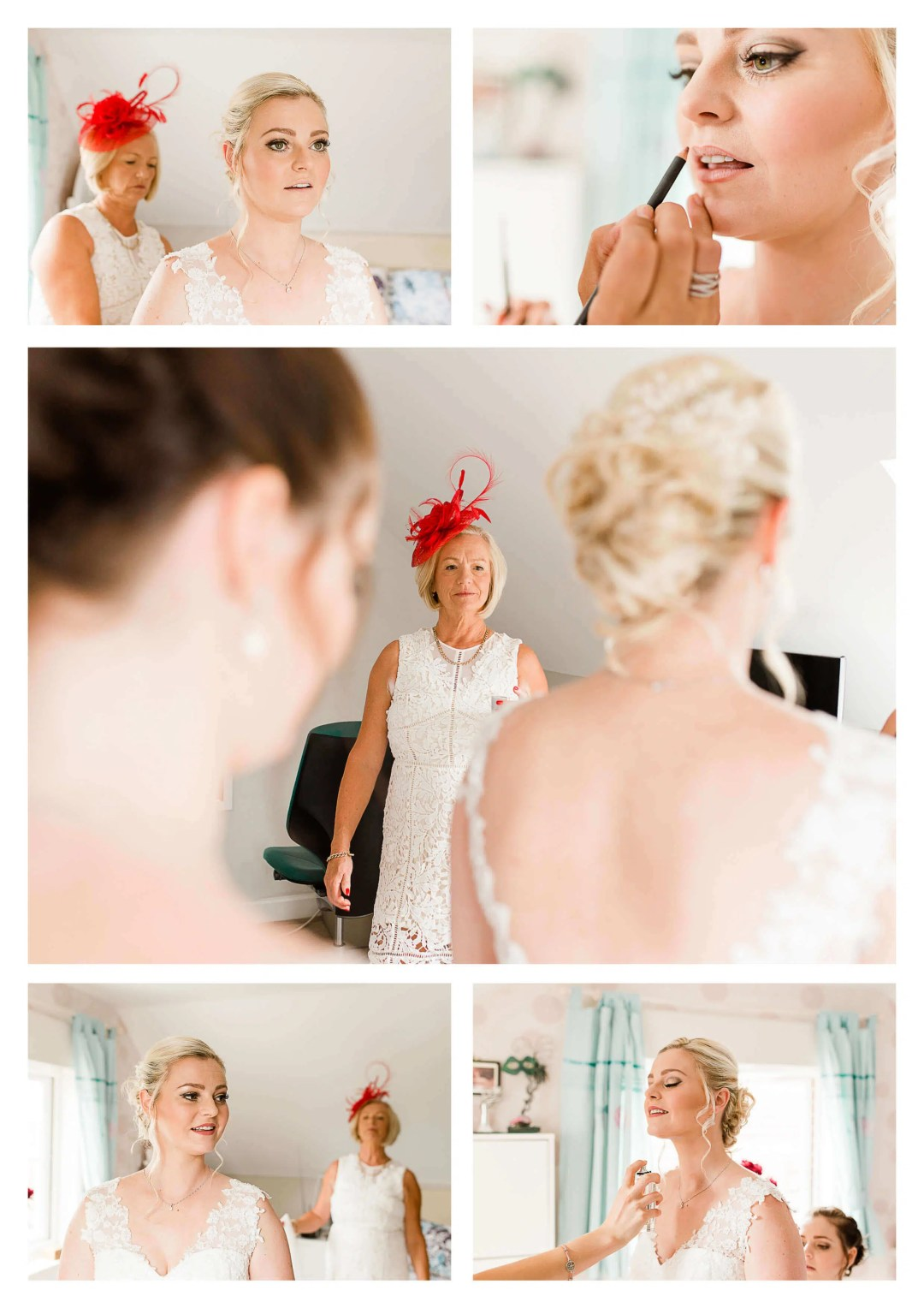 Surrey wedding photography in Horley for bride getting ready photography