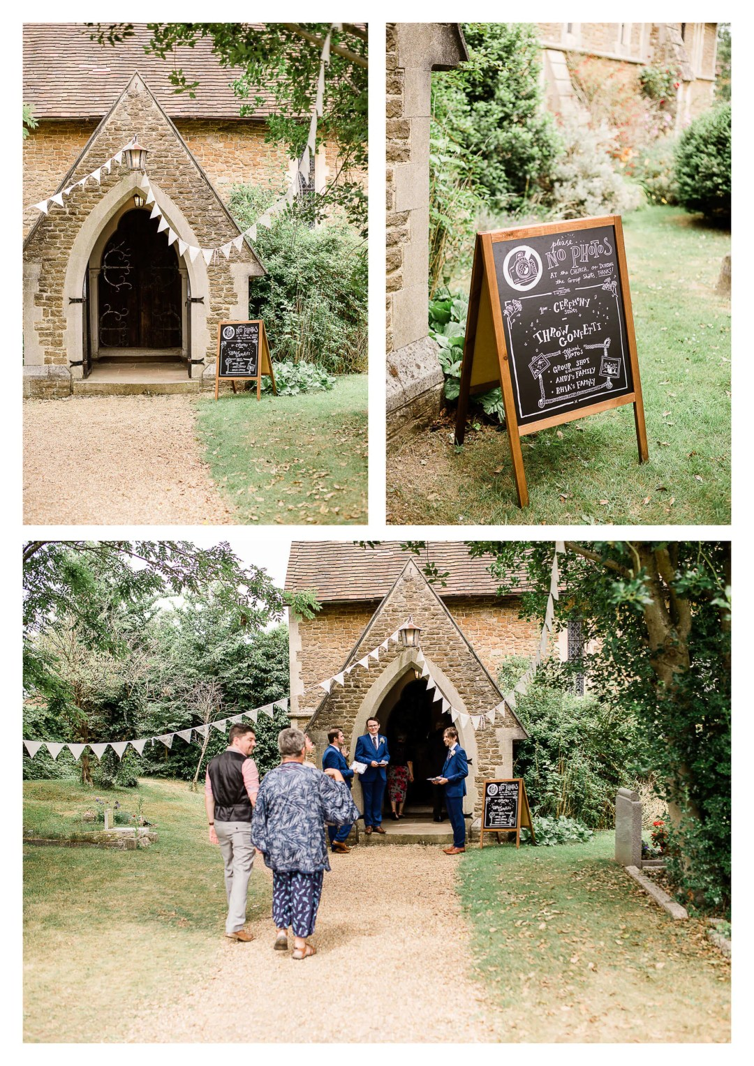 Ceremony at St Luke's Church   wedding photographer in Guildford