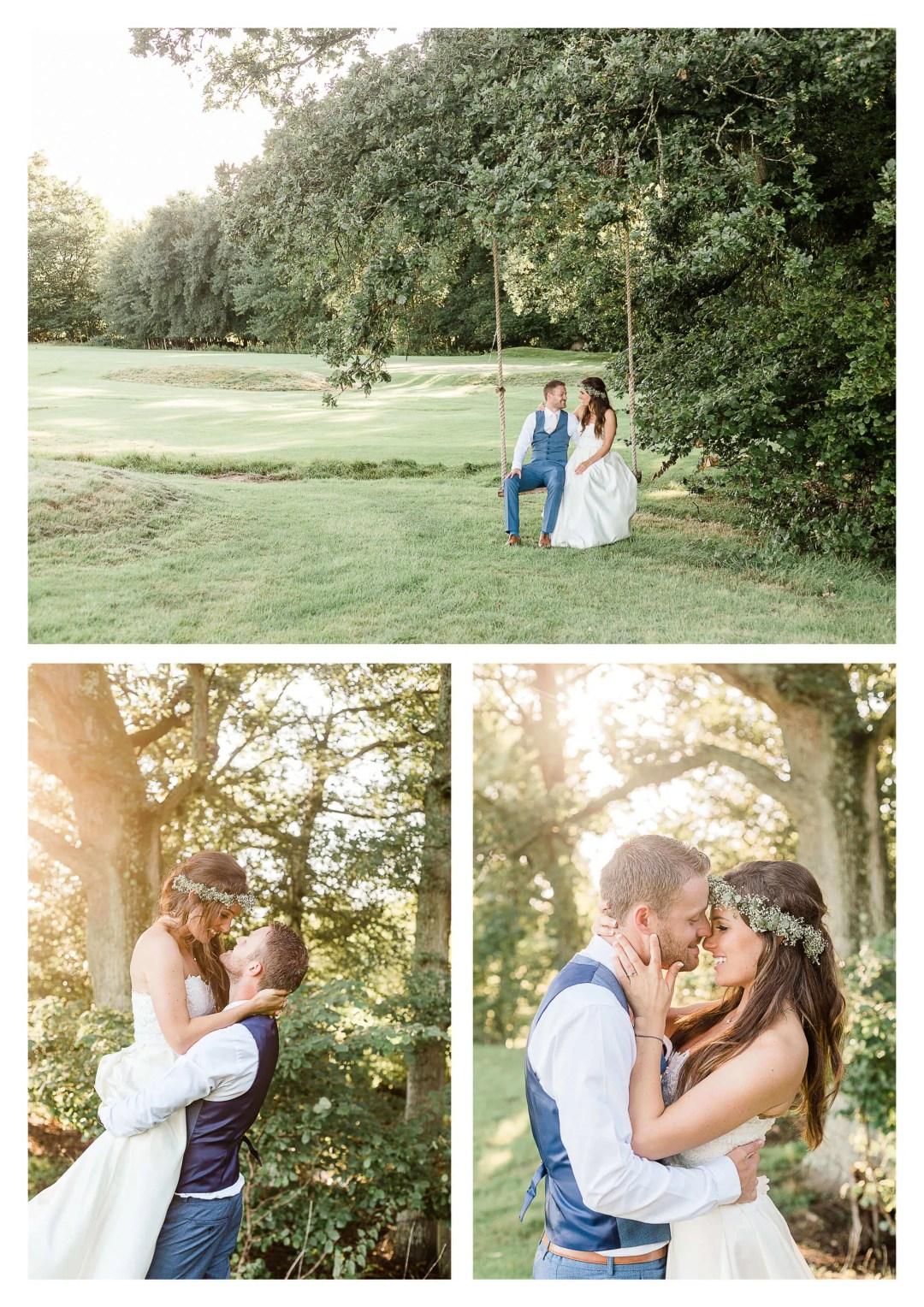 Brookfield Barn swing wedding photography | Horsham photographer