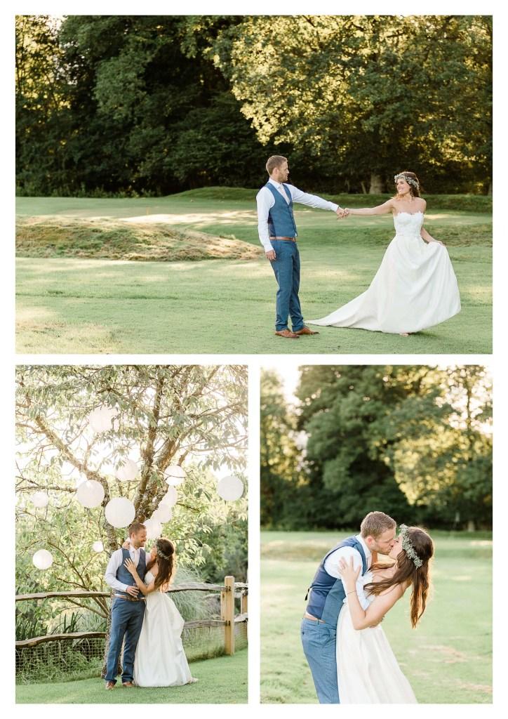 Brookfield Barn wedding photography on golf course   Horsham photographer