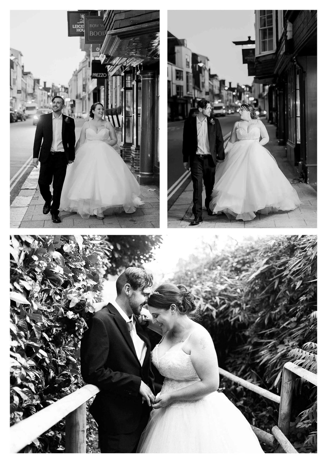Lewes High Street Wedding Couple Portraits | Brighton Photographer