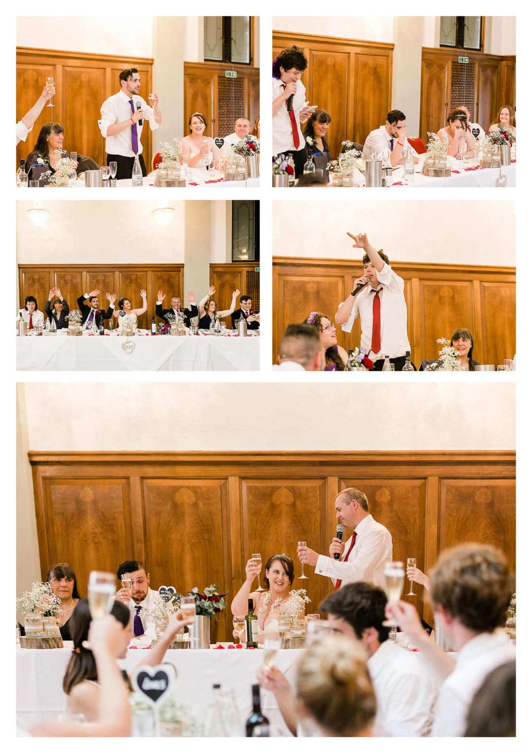Pelham House wedding breakfast toasts | Brighton Wedding Photographer