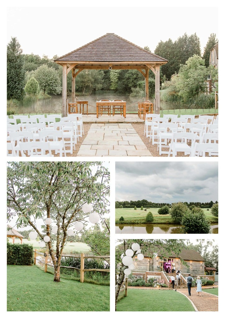 Brookfield Barn wedding photos Outdoor ceremony and golf course