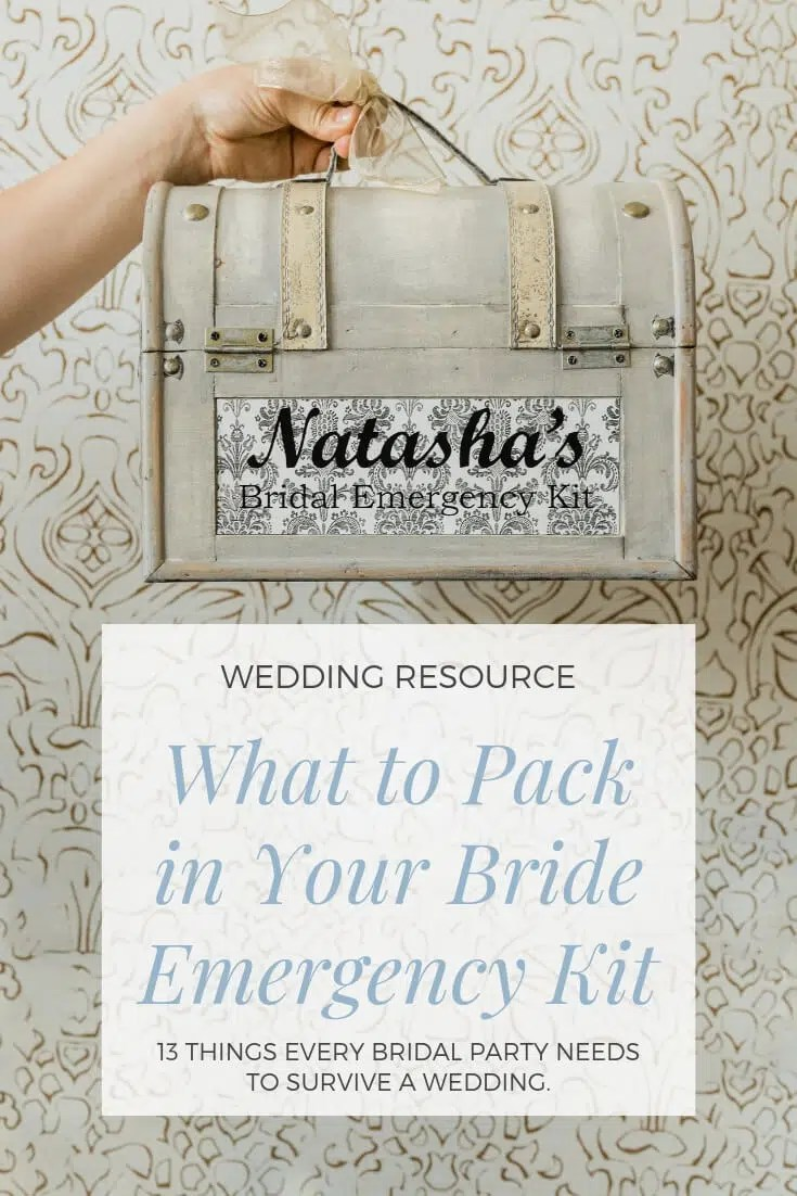 What to pack in your bride emergency kit
