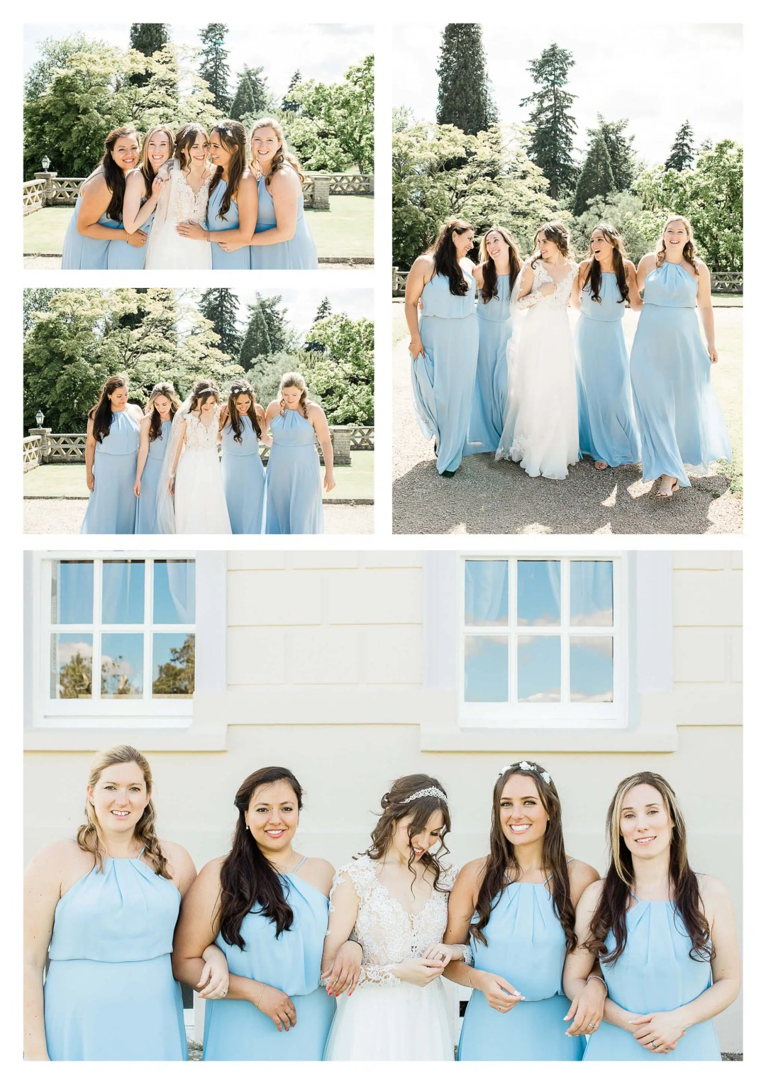 Buxted Park Hotel Bridesmaid and bride portraits | Wedding Photographer