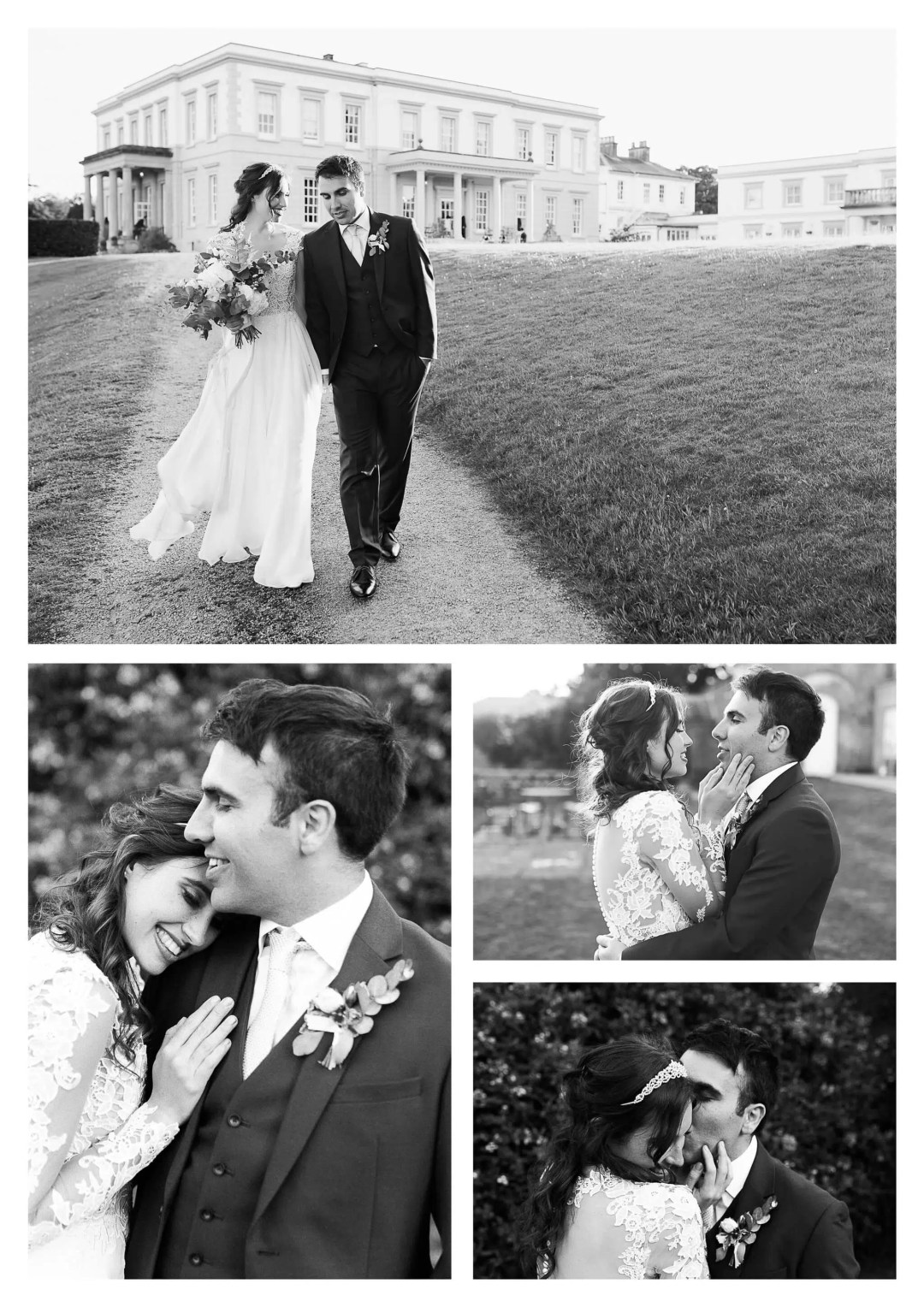 Buxted Park Hotel wedding photography couple portraits