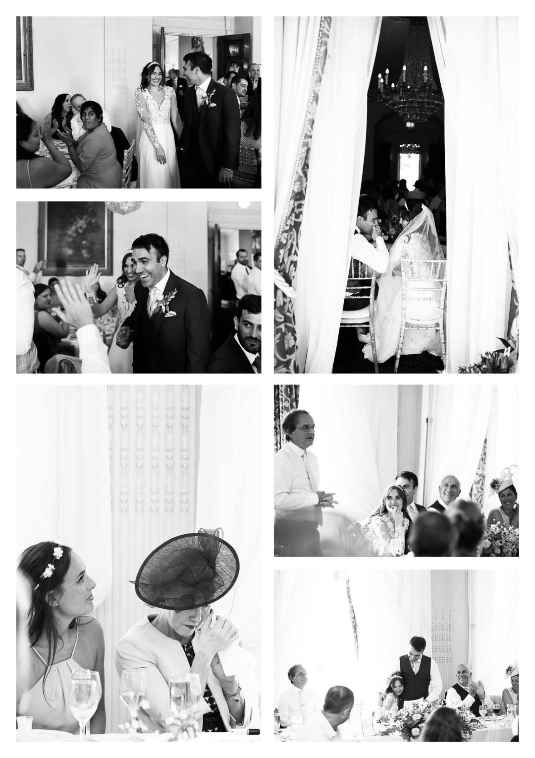 Buxted Park Hotel wedding photography of Ballroom