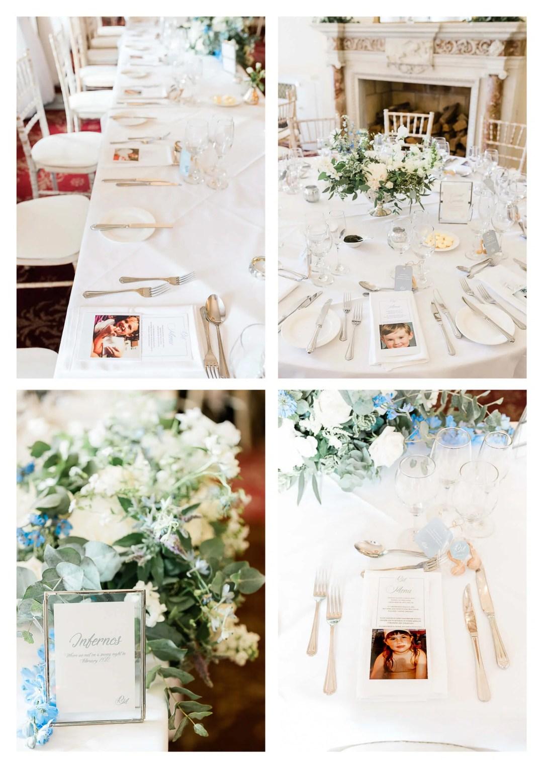 Buxted Park Hotel wedding venue reception decor | Uckfield Photography-