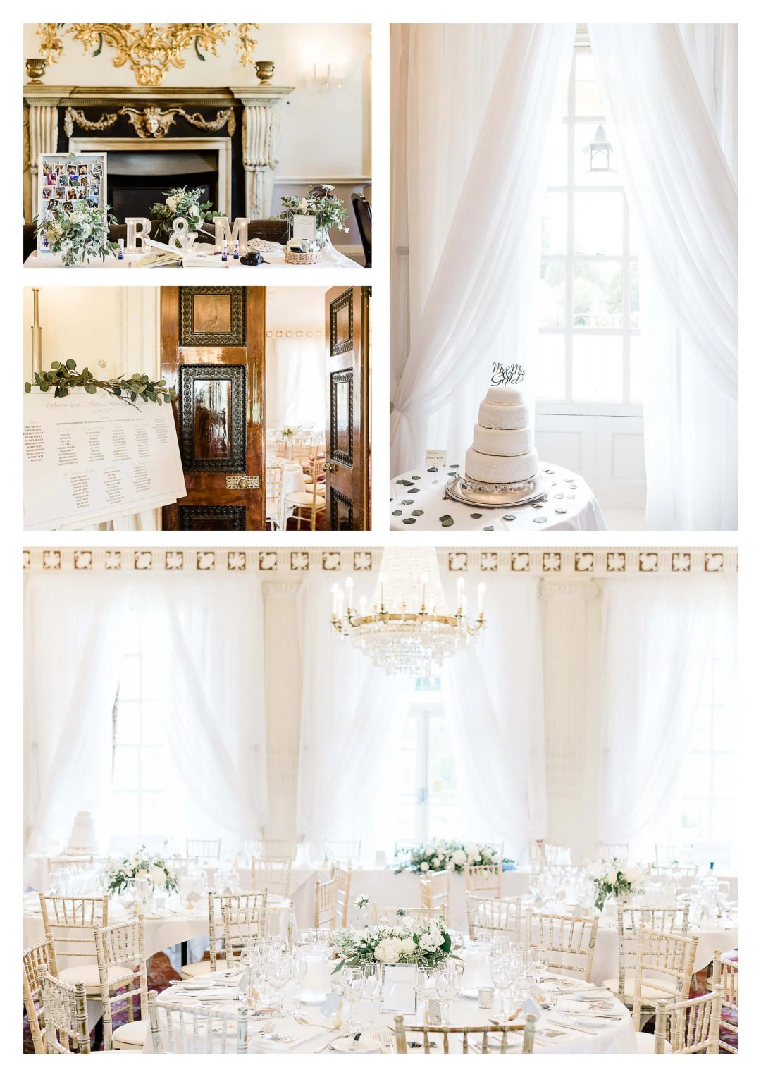 Buxted Park Wedding Breakfast Decorations for ballroom | Uckfield photography