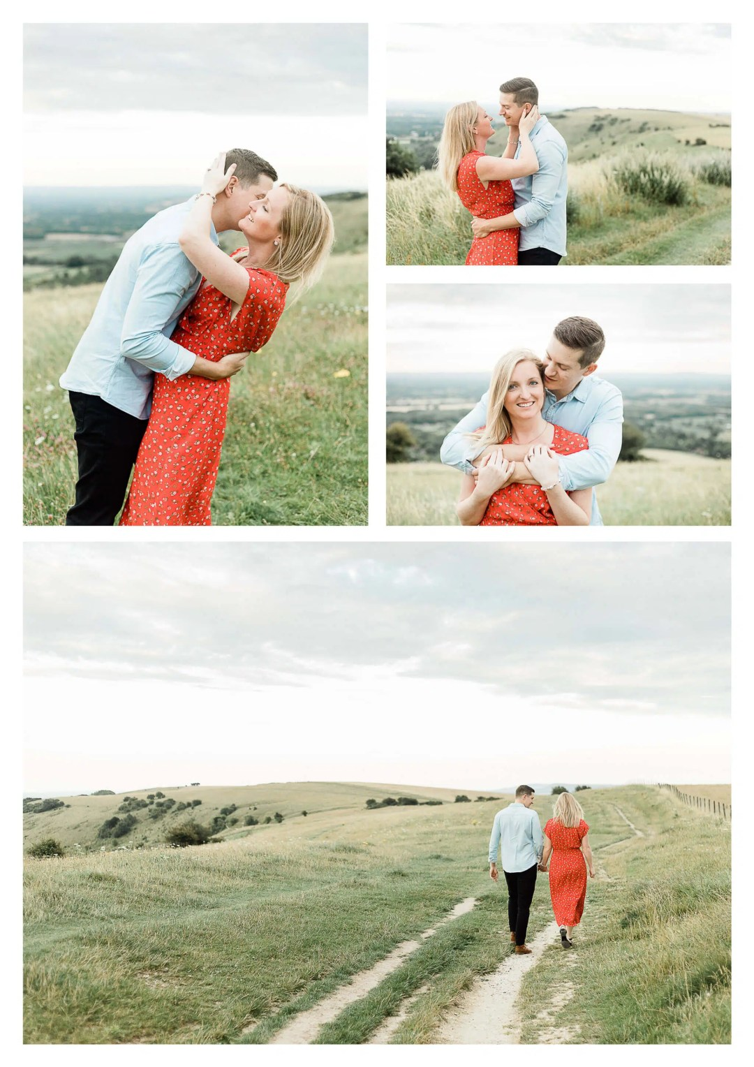 Ditchling Beacon engagement photography session on South Downs near Brighton