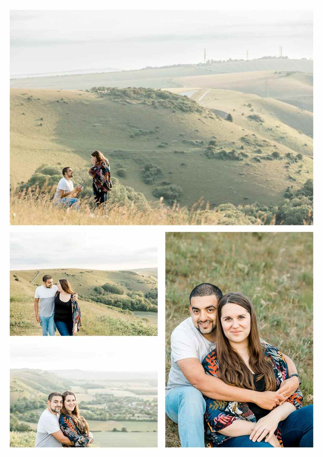 Devils Dyke proposal engagement photography in Brighton