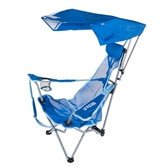 backpack chairs leather to cover dining kelsyus beach canopy chair blue