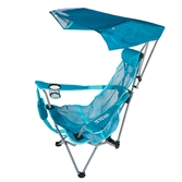 swimways premium canopy chair suzanne kasler quatrefoil chairs kelsyus backpack beach teal